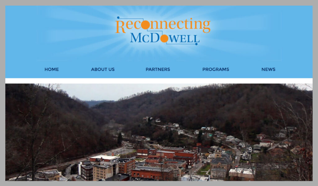 Reconnecting McDowell homepage
