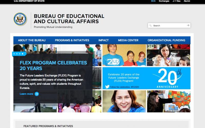 U.S. State Department desktop site screenshot