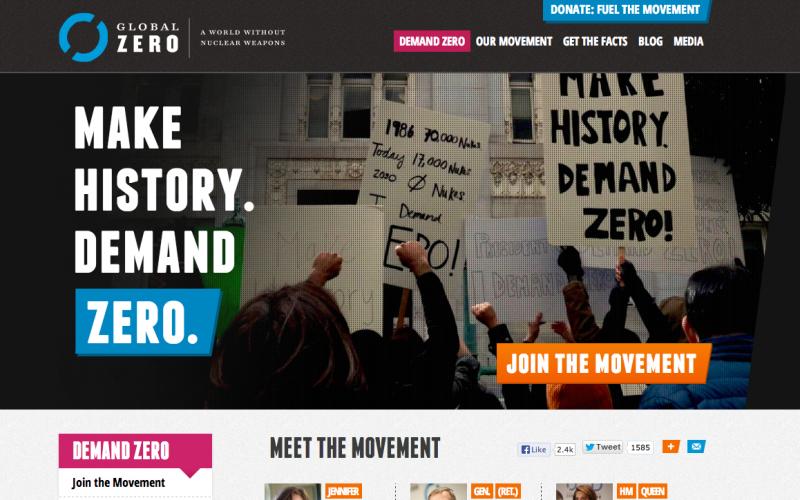 Global Zero desktop site screenshot