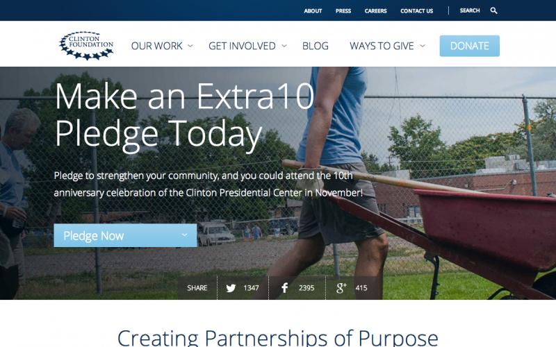 Clinton Foundation desktop site screenshot