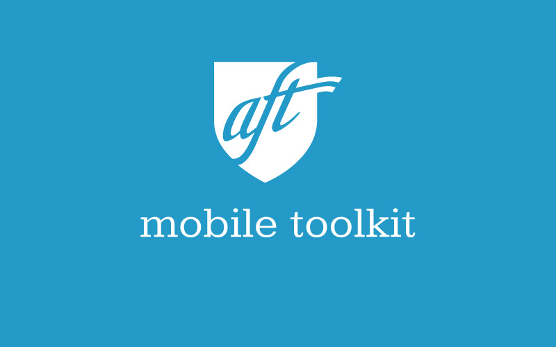 American Federation of Teachers (AFT) Mobile Toolkit teaser site screenshot