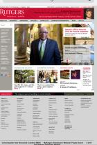 Rutgers - Newark mobile site screenshot