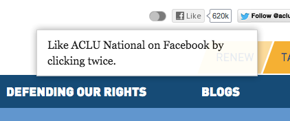 ACLU.org Facebook button