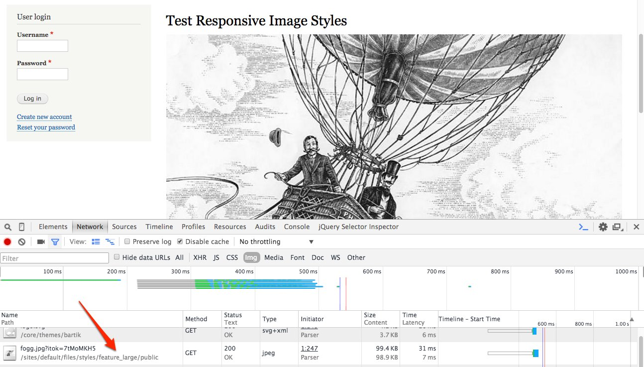 Test Responsive Image Styles | Drupal 8 Test-2