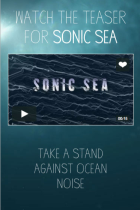 Sonic Sea mobile site screenshot