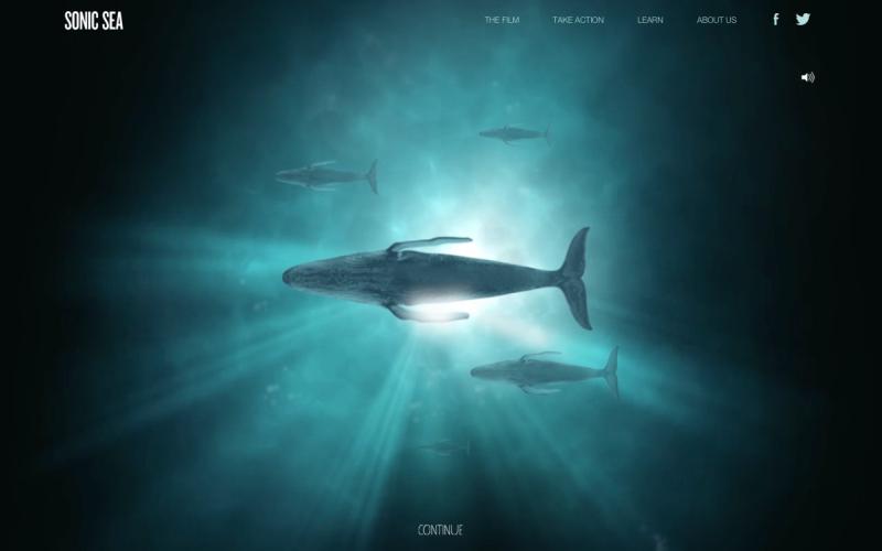 Sonic Sea desktop site screenshot