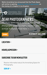 Annenberg Space for Photography mobile site screenshot