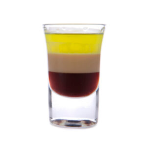 layered shot drink
