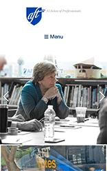 American Federation of Teachers mobile site screenshot