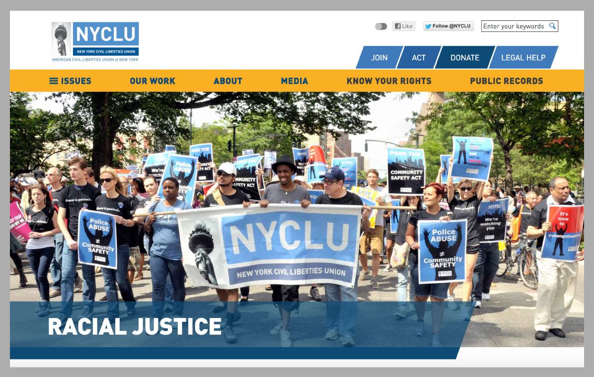 NYCLU screenshot