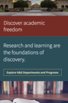 Stanford School of Humanities and Sciences mobile site screenshot
