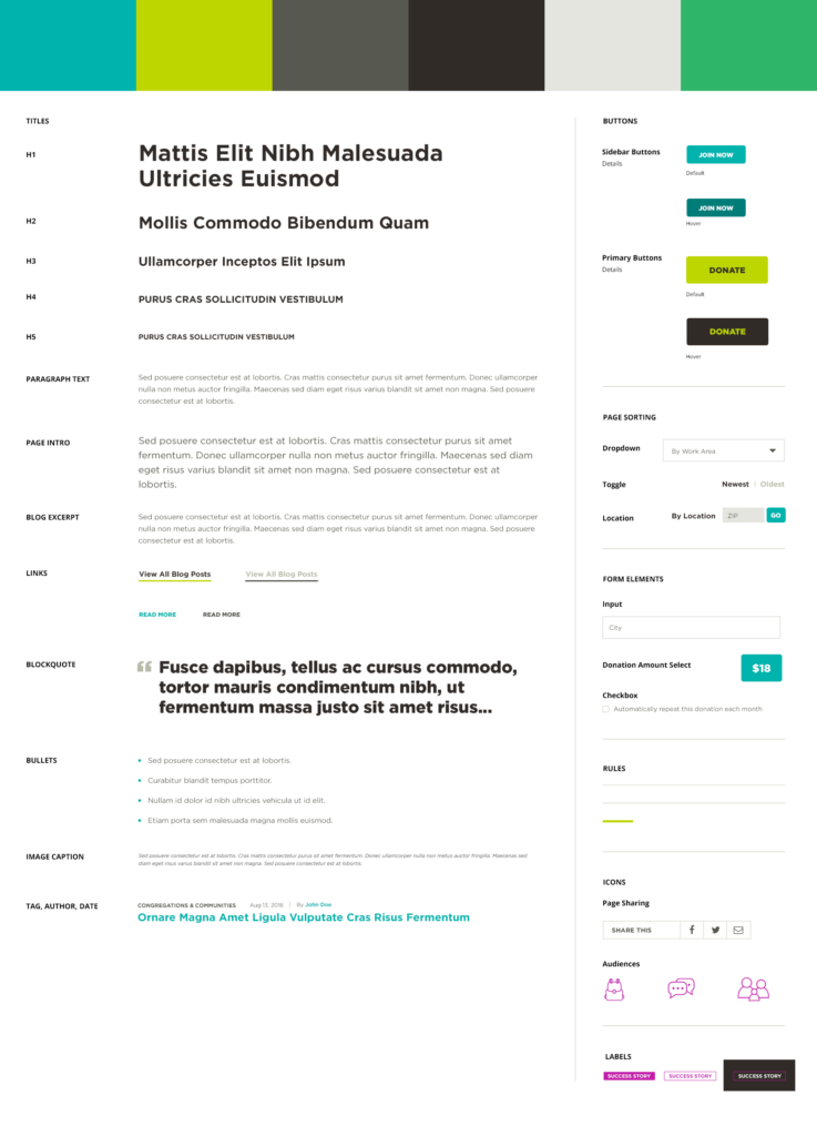 Style guide design deliverable example