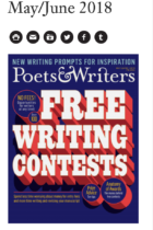 Poets & Writers mobile site screenshot
