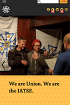 International Alliance of Theatrical Stage Employees (IATSE) mobile site screenshot
