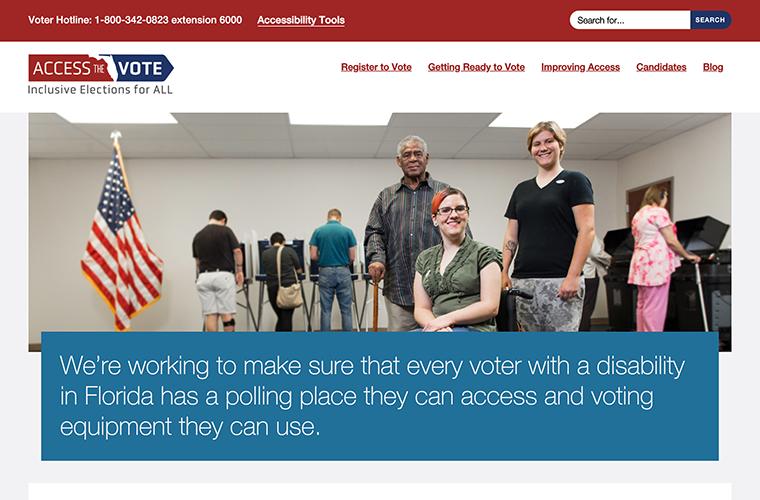 Access the Vote desktop site screenshot
