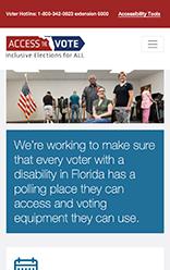 Access the Vote mobile site screenshot