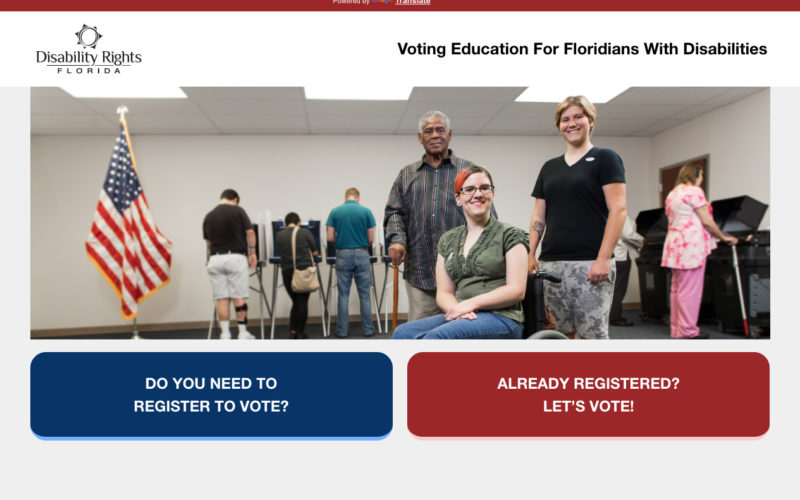 Access the Vote - Accessibility Remediation desktop site screenshot