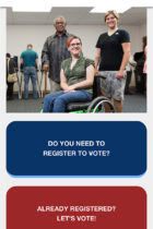 Access the Vote - Accessibility Remediation mobile site screenshot