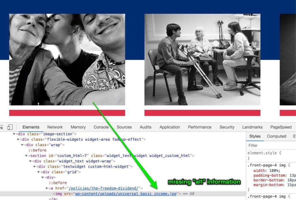 Screenshot of Andrew Yang's site
