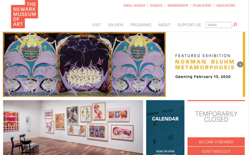 The Newark Museum of Art desktop site screenshot