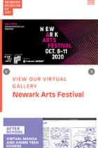 The Newark Museum of Art mobile site screenshot
