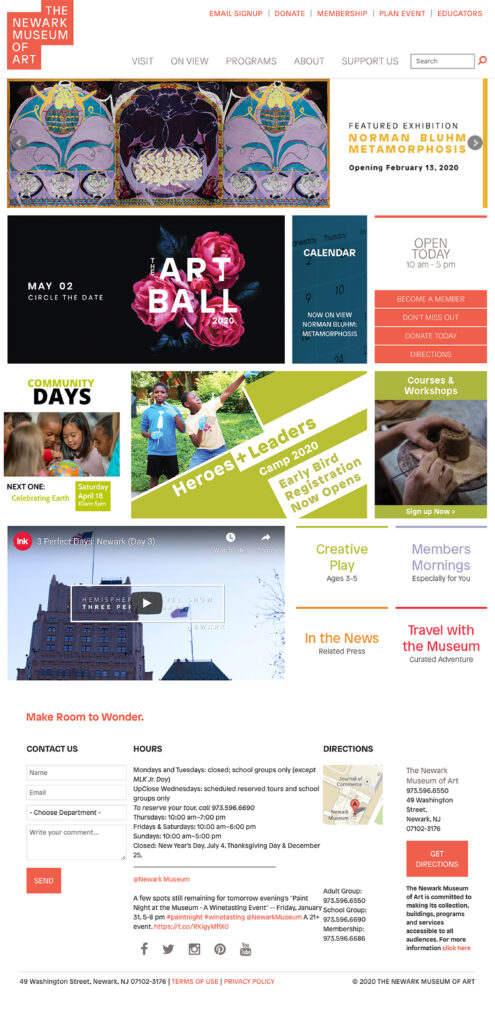 Newark Museum Homepage
