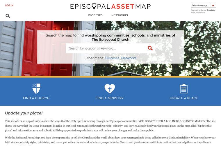 Episcopal Relief & Development desktop site screenshot