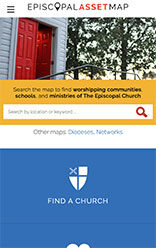 Episcopal Relief & Development mobile site screenshot