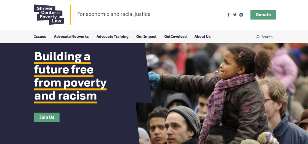Shriver Center on Poverty Law homepage